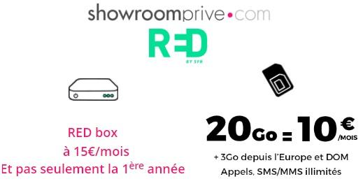 Les ventes privées box et mobile de l'opérateur RED BY SFR