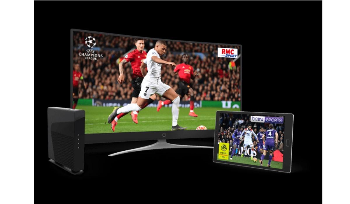 visuel foot sur TV