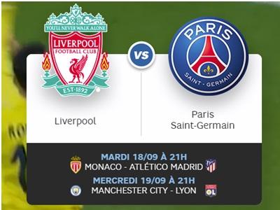 visuel rencontre PSG face à Liverpool