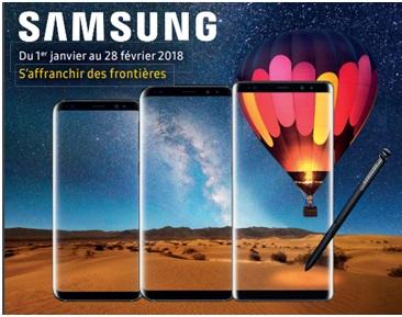 Remise différée de 100€ sur les Samsung