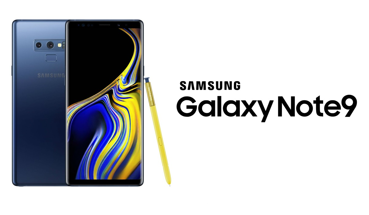 photo du samsung galaxy note 9 avec le logo