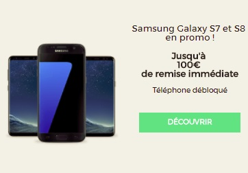 samsung galaxy s7 et s8 en promo jusqu 100 euros de remise imm diate. Black Bedroom Furniture Sets. Home Design Ideas