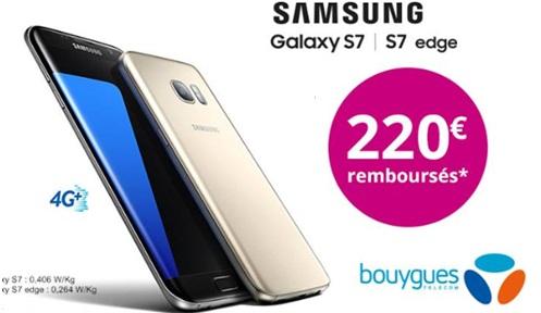 Galaxy S7 et Galaxy S7 Edge en promo chez Bouygues Telecom ( 220 euros offerts)