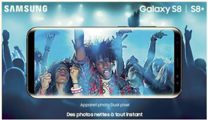 Le Samsung Galaxy S8 et S8 plus en vente flash chez SOSH