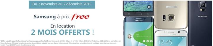 Free vous offre votre Samsung pendant 2 mois !