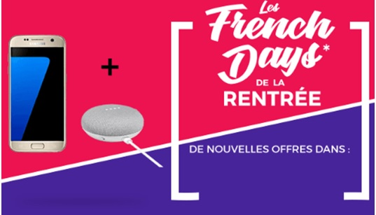 french days cdiscount smartphone + enceinte google offerte