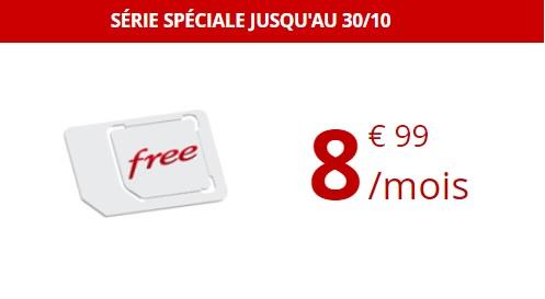 Série Spéciale Free Mobile 60 Go valable jusqu'au 30 Octobre 2018