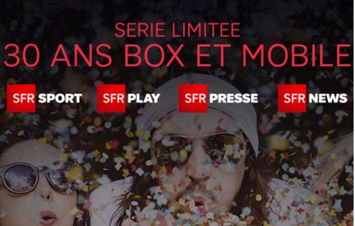 SFR : les deux séries limitées 30 ans pour le mobile et fixe sont disponibles