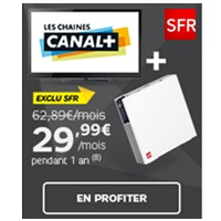 bon plan internet les chaines canal en promotion avec la sfr box. Black Bedroom Furniture Sets. Home Design Ideas