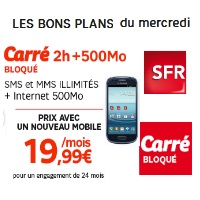 sfr bon plan mercredi galaxy s3 mini