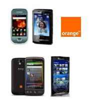 smartphone orange et origami plus