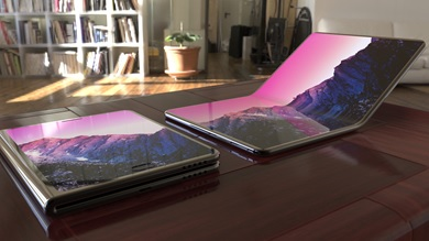 photo de concept de smartphone pliable