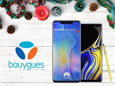 samsung, galaxy note9, s9 plus, huawei mate 20 pro, p20 pro, bouygues telecom, noel