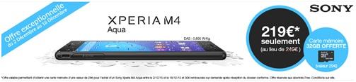 offre exceptionnelle le sony xperia m4 aqua 219 chez free mobile. Black Bedroom Furniture Sets. Home Design Ideas