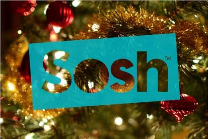 décor de noel avec le logo Sosh