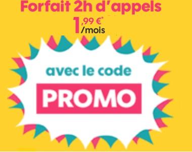 Nouvelle promo : le forfait SOSH 2h à moins de 2 euros