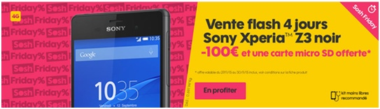 Sosh friday une vente flash sur le sony xperia z3 - Vente flash internet ...