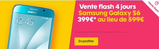 vente flash, samsung, galaxy s6, sosh