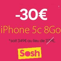 Bon plan : iPhone 5C en promo avec un forfait mobile Sosh !