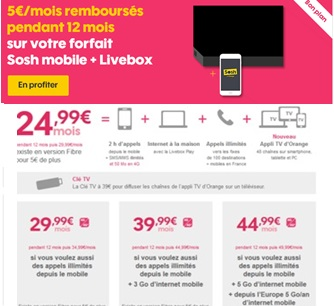 Sosh promo box et mobile