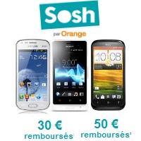 Découvrez tous les Smartphones en promo avec un forfait Sosh !