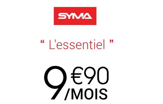 Forfait Essentiel 50Go  Syma Mobile