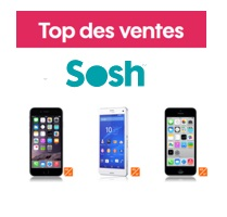 Top 5 des ventes Sosh :  Lumia 530, Galaxy S5 4G+, Xperia Z3 Compact, iPhone 6 et iPhone 5C