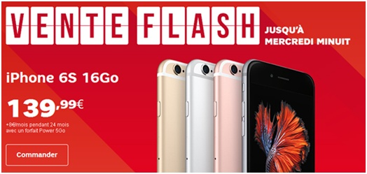 iPhone 6 et 6s : Profitez de la vente flash SFR jusqu'à mercredi