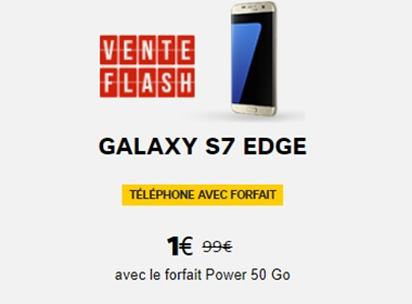 le Galaxy S7 Edge en vente flash chez SFR