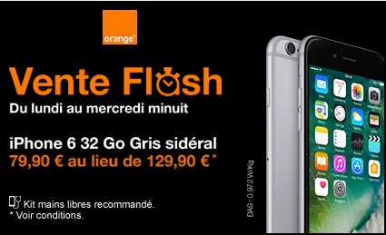 l iphone 6 32go en vente flash chez orange remise. Black Bedroom Furniture Sets. Home Design Ideas