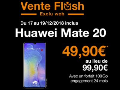 orange vente flash mate 20