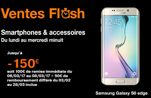 galaxy s6 edge en vente flash chez orange
