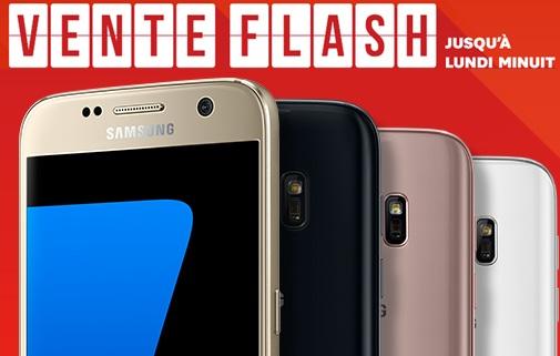 Le Samsung Galaxy S7 en vente flash à 29.99 euros chez SFR