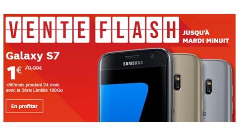 Le Samsung Galaxy S7 à 1 euro chez SFR ce Week-end