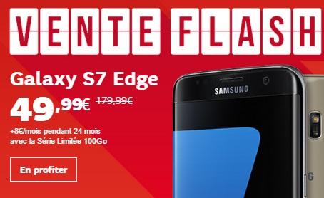 Bon plan : le Galaxy S7 Edge à 49.99 euros avec la série limitée 100Go chez SFR