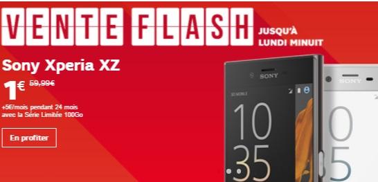 Vente flash SFR : Jusqu'à 128.99 euros de remise sur une sélection de Smartphone (Sony, HTC et Crosscall)