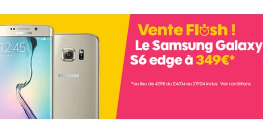 Galaxy s6 edge, vente flash sosh