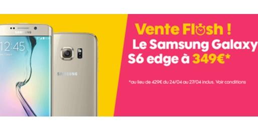 Bon plan : le Samsung Galaxy S6 Edge à 349 euros chez SOSH (vente flash)