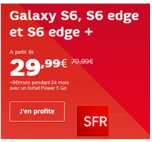 galaxy s6 s6 edge s6 edge + vente flash sfr
