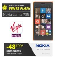 lumia 735 en promo chez Virgin Mobile