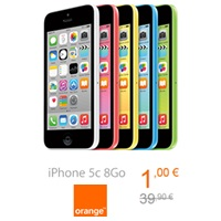 Bon plan du Web Orange : L'iPhone 5C 8Go en vente flash à 1€ !