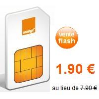orange carte sim prépayée La carte prépayée en vente flash à 1.90euros chez Orange
