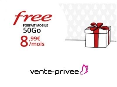 forfait free 50go vente privee