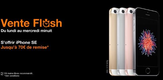 L'iPhone SE en promo chez Orange 70€ de remise