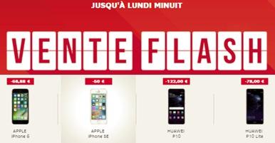 Dernières heures pour profiter des ventes flash SFR (Huawei P10, P10 Lite, iPhone 6 et iPhone SE)
