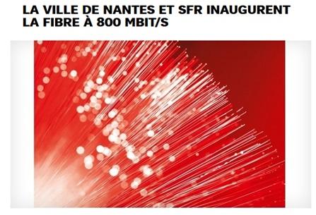 La fibre de SFR évolue à Nantes et passe à 800Mb/s !