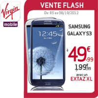 Le Samsung Galaxy S3 à 49,99€ chez Virgin Mobile