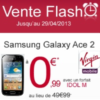 Bon plan Virgin Mobile : Samsung Galaxy ACE 2 à 0,99 euros