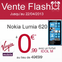Bon plan Virgin Mobile : vente flash sur le Nokia Lumia 620