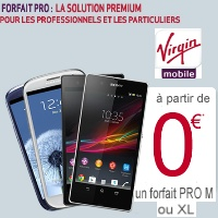 Promotion Virgin Mobile : iPhone 4 et Samsung Galaxy S3 à 0€, Sony Xperia Z à 29€